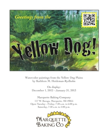 "Poster for ""Greetings from the Yellow Dog"" exhibit"